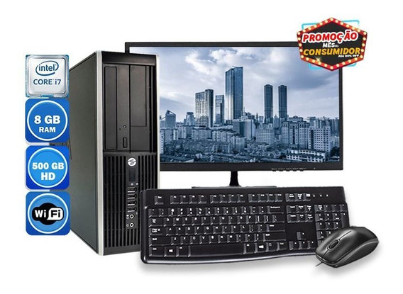 Computador Pc Completo Hp 8300 Intel I7 8gb Hd 500gb Wi-fi