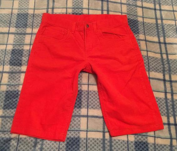Bermuda De Pana Jcp Talla 30 Color Naranja
