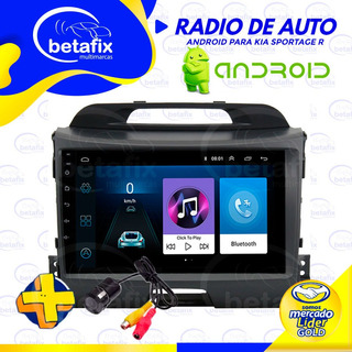 Radio Android Kia Sportage R 2010/19 Gps Bt Usb Betafix Ec