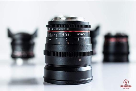 Lente Rokinon 24mm T1.5 Mount Canon Ef
