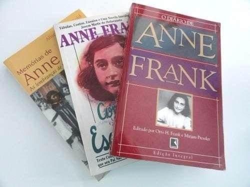 Anne Frank- Trilogia- Diário - Contos - Memórias (3 Livros)
