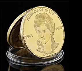 Wales Lady Di Last Rose Banhada A Ouro * C O L *