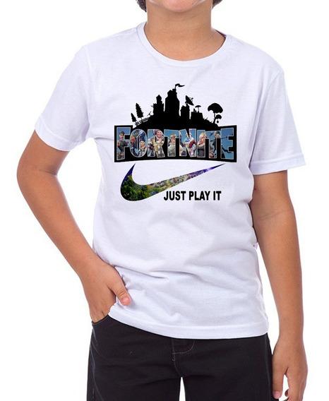 Camiseta Infantil Feminina E Masculina Fortnite Just Play