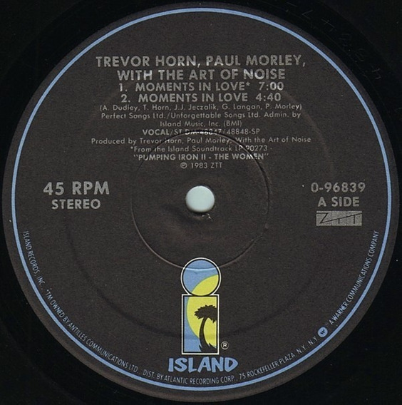 Art Of Noise Moments In Love 12 Import Us 1985