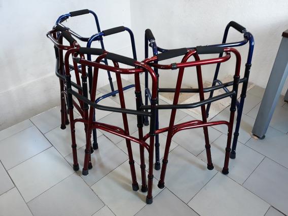 Andadera Ortopedica Sobrepeso Plegable Fija 33 Azules 32vin