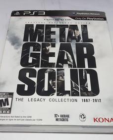 Metal Gear Solid Para Ps3 - Caixa Com Livro Completo