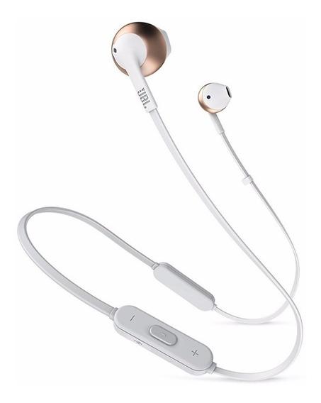 Fone De Ouvido Jbl Tune T205 Bt Rosa Bluetooth Com Microfone
