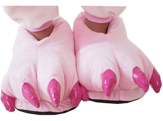 Pantufa Garras Rosa Adulto Confortável Pronta Entrega