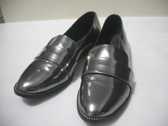 Sapato Sapatenis Beira Rio 34 Cinza Cromado Usado Bom Estado