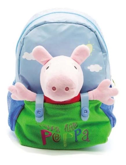 Mochila Jardín Peppa Pig Con Peluche 12 Pulgadas Original