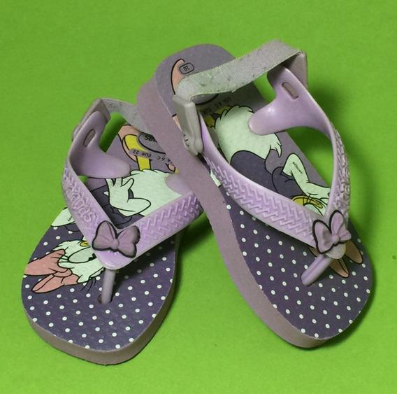 Chinelo Infantil Havaianas Sandália Baby Disney Margarida
