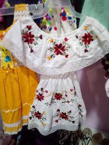 88a05479b0 Vestido Artesanal Bordado Para Niña en Mercado Libre México