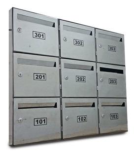 Caixa Correio Inox P/parafusar - Condomínio Painel 12 Aptos