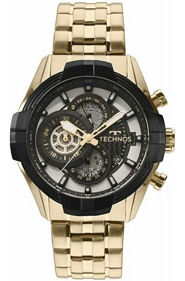 Relógio Technos Carbon Dourado