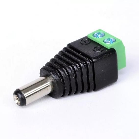 Kit 05 Plug P4 Macho Câmeras Adaptador Alimentação Bnc