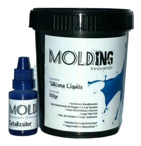 Caucho Silicona Liquida 1kg Para Moldes - Rtv2 Poliuretano