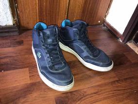 Zapatillas Lacoste Azul Con Caña