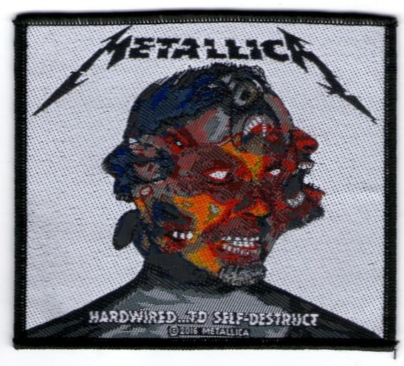 Patch Microbordado Metallica Hardwired Self Destruct Oficial