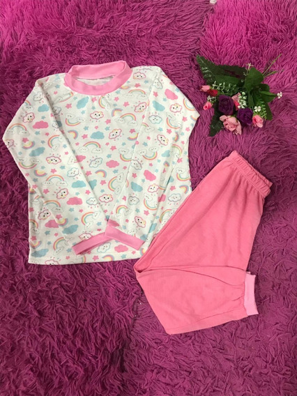 Kit 4 Pijama Infantil Longo Estampado Masculino Feminino