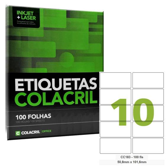 Etiqueta Adesiva Carta Cc183 50,8x101,6 Colacril 300fl