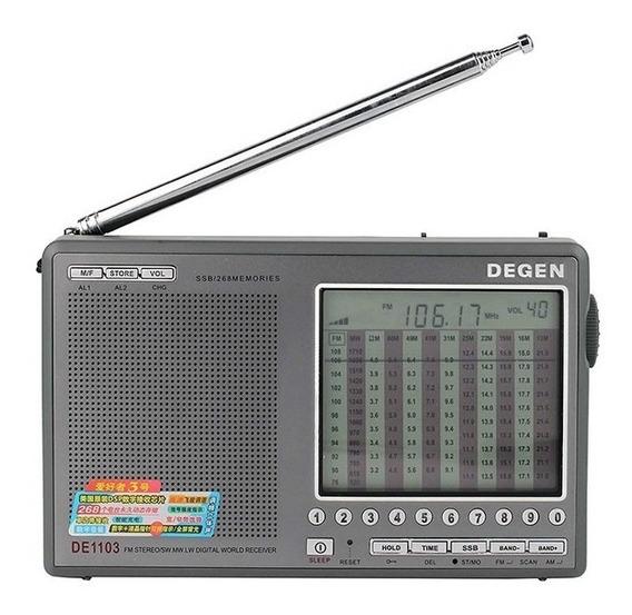 Rádio Degen De1103 Am Fm Stéreo Sw Lw Ssb Digital
