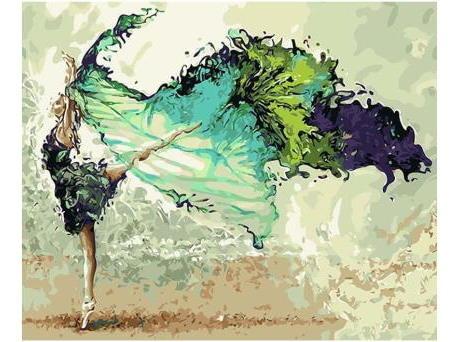 Pintura Numerada Bailarina Pintura Abstrata Modelo 2