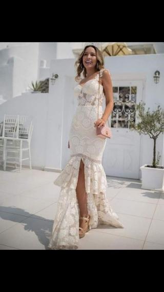Vestido Branco Longo / Casamento Civil / Festas Outros