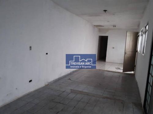 Salão Comercial Para Locação No Planalto/sbc 130m², 3 Salas - Sl0051