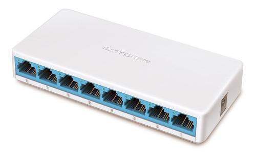 Imagem 1 de 1 de Switch 8 Portas 10/100 Mbps Ms108 Mercusys Envios 24hs