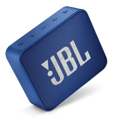 Caixa Bluetooth 5.0 Jbl Go2 Portatil Azul A Prova De Agua