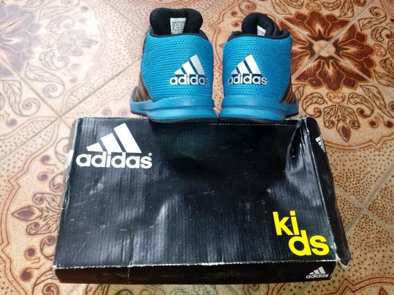 Tenis adidas Kids Original N28 Cano Medio Azul E Preto