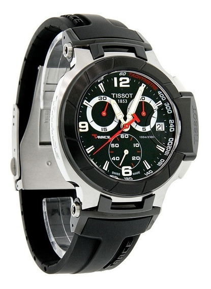 Tissot Mens T0484172705700 T-race Black Chronograph Dial Wa