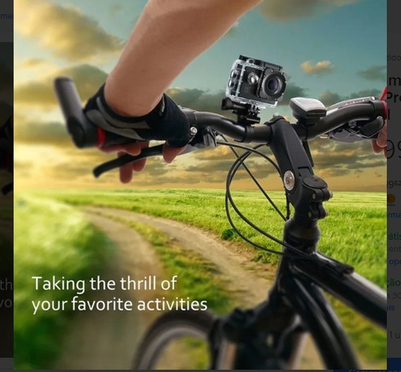 Câmera Sports Fotográfica & Filmadora 1080p Full Hd