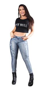 Linda Calça Feminina Pit Bull Jeans Lançamento