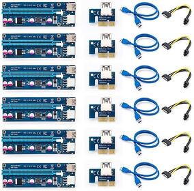 Riser Card 006c Pci-exp Kit 6 Pçs Rig Mineração