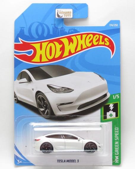 Tesla Model 3 #174 - 1/64 - Hot Wheels 2019