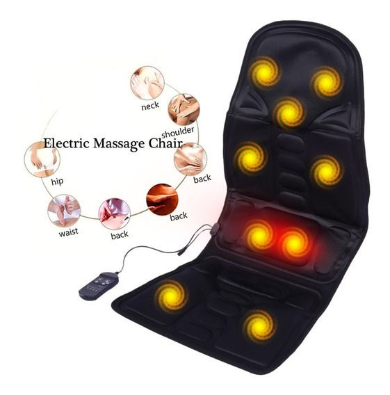 Capa Massageadora Para Encosto Assento Carro Poltrona