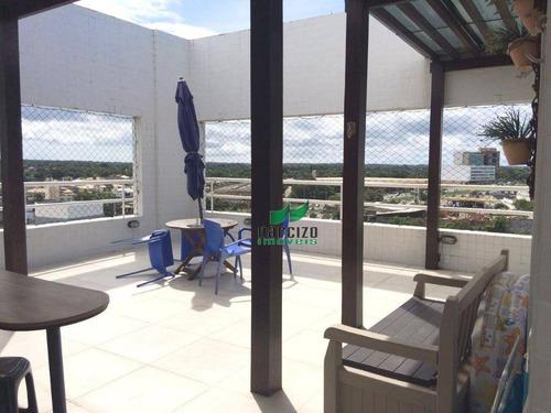 Cobertura Com 4 Dormitórios À Venda, 180 M² Por R$ 540.000,00 - Pitangueiras - Lauro De Freitas/ba - Co0081