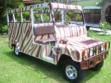 Carro / Carrito Electrico Tipo Safari Camuflageado 12 Pas.