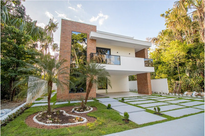 Alphaville Manaus 2, Casa Área Construída 407 M², 05 Suítes Com Closet, Piscina, 04 Vagas - Ponta Negra / Am. - Ca Alph002 - 34094046