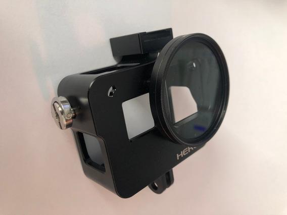 Case De Alumínio Protetora Gopro Hero5/6/7 + Filtro Uv 52mm