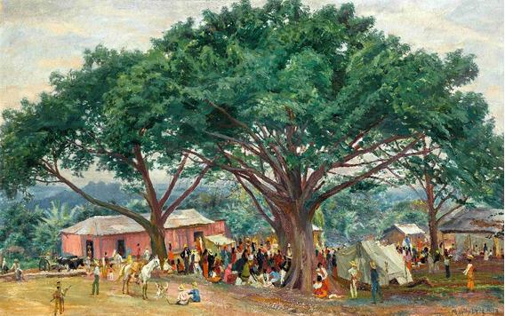 Lienzo Tela Canvas Arte Paisaje Chiapas Max Vollmbe 82 X 130