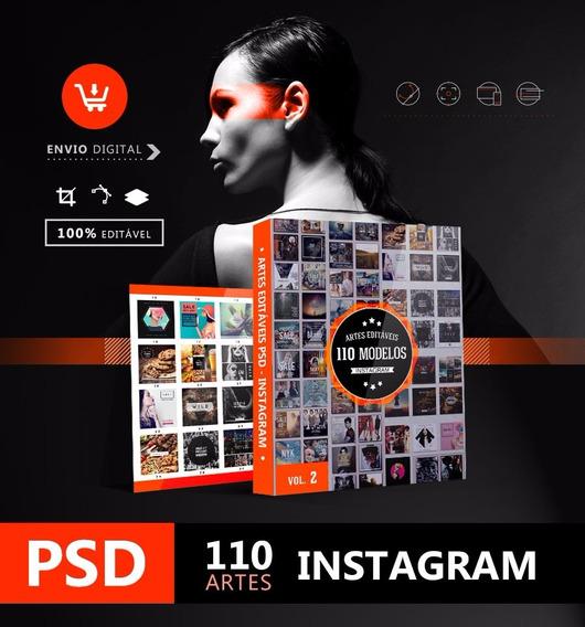Arte Instagram - Super Coleção 110 Modelos Editáveis + Fonte