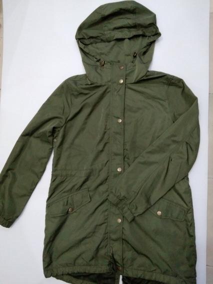 Chamarra Tipo Cazadora Para Dama Color Verde Militar