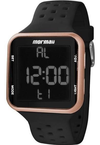 Relógio Mormaii Digital Quadrado Visor Negativo Mo6600/8j