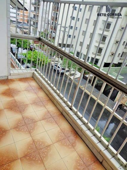 Guarujá, Enseada - Excelente Apartamento, 1 Amplo Dormitório, Sala Com Sacada, Próx. A Praia - Ap0294
