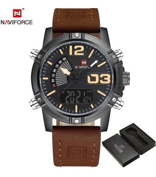Relógio Masculino Naviforce 9095 Esporte Militar Digital P/m
