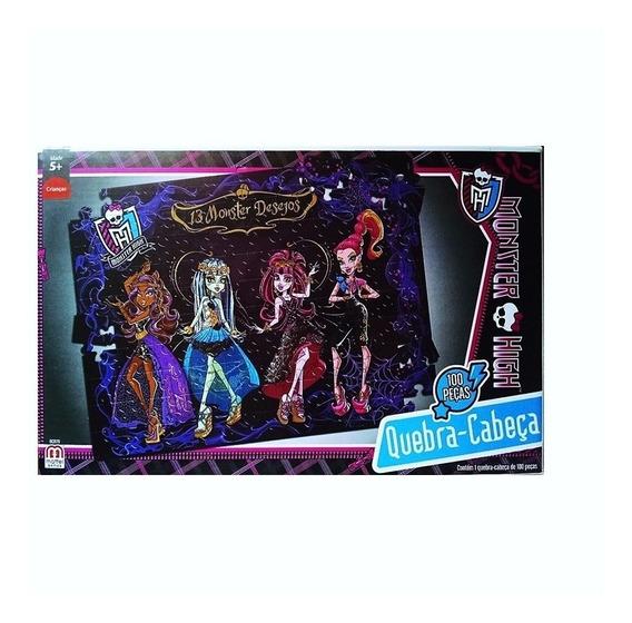 Quebra Cabeça Infantil Monster High 13 Desejos 100 Peças