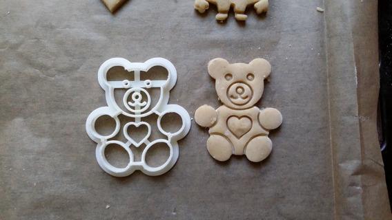 Cortador De Biscoito Biscuí Massa Urso Ted Bear 8 Cm Altura
