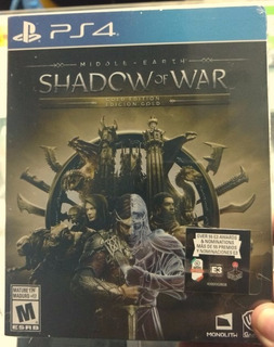 Middle Earth Shadow Of War Gold Edition Caja De Metal Ps4